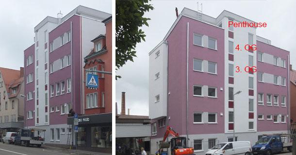 Bild Außenansicht Ostseite des Neubau Marktplatz 3, 78054 VS-Schwenningen