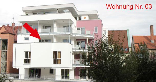 Bild Außenansicht Süd-West, Wohnung 03, Neubau Marktplatz 3, 78054 VS-Schwenningen