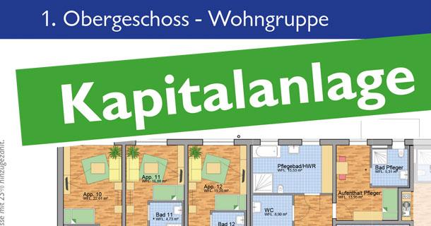 Kapitalanlage in Blumberg: AWO-Wohngruppe / Seniorenwohngemeinschaft