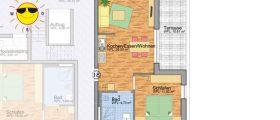 Wohnung 18 - Grundrissplan Servicewohnen Blumberg