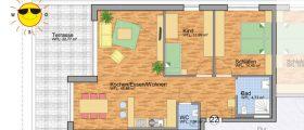 Wohnung 22 - Grundrissplan Servicewohnen Blumberg