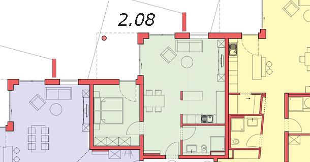 Sattelweg Grundriss Wohnung 8, Haus 2