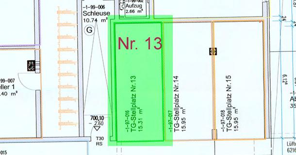 Bad Dürrheim Riedstrasse 7 Tiefgaragenstellülatz Nr. 13 zu verkaufen