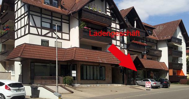 Foto aus Richtung Innenstadt: Ladengeschäft Bad Dürrheim, Salzstraße 4