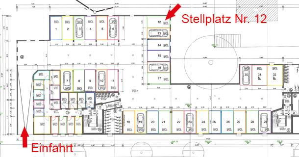 Zu verkaufen: Tiefgaragenstellplatz Nr. 12, Scheffelstraße 10-16, Bad Dürrheim