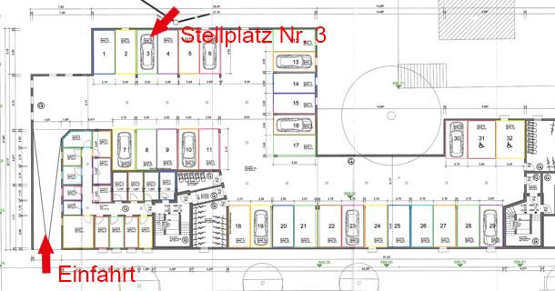 Zu verkaufen: Tiefgaragenstellplatz Nr. 3, Scheffelstraße 10-16, Bad Dürrheim